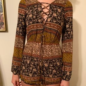 Beautiful Romper with Tapestry Design